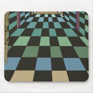 Geometric Geometrix Teal Turquoise Blue Green Mousepads