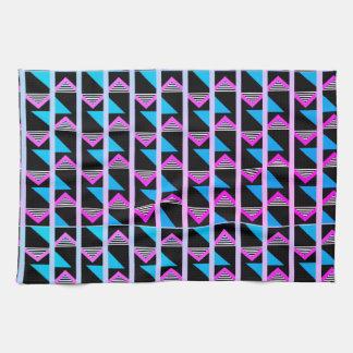 geometric glow tea towel