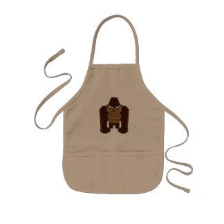 geometric gorilla.cartoon gorilla kids apron