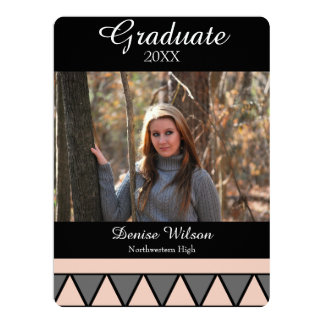 Geometric Graduation Photo Invitation