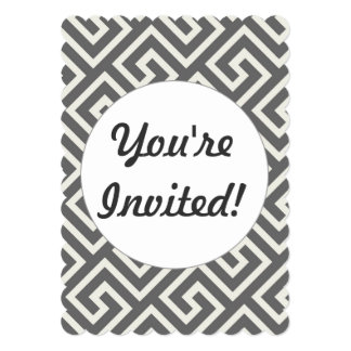 Geometric Greek Key Pattern Elegant Graphic Design 13 Cm X 18 Cm Invitation Card