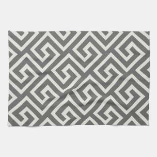 Geometric Greek Key Pattern Elegant Graphic Design Towel
