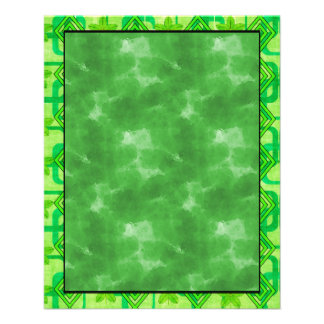Geometric Green Leaves Flyers