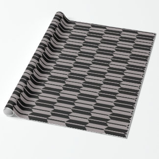 Geometric Grey and black Pattern Wrapping Paper