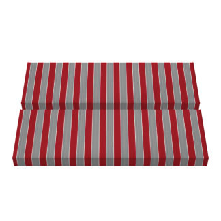 Geometric Grey and Red Striped Canvas Print