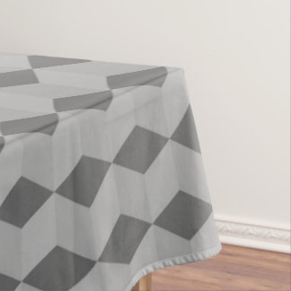 Geometric Grey diamond pattern Tablecloth
