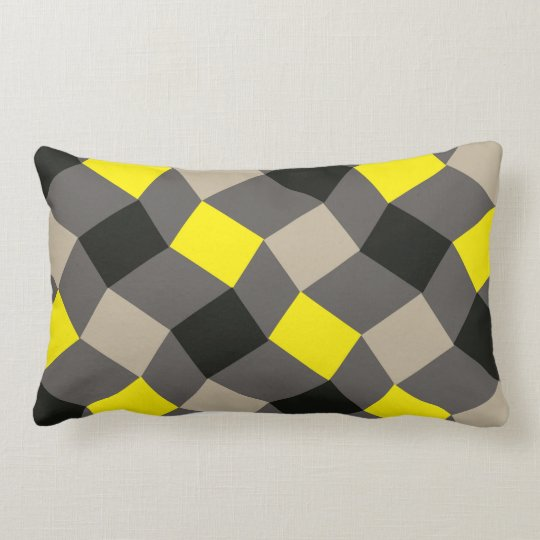 Geometric Grey Throw Pillow