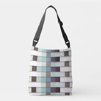 Geometric Grunge Graphic Crossbody Bag