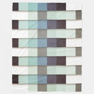 Geometric Grunge Graphic Fleece Blanket