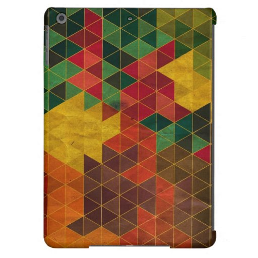 Geometric Grunge Triangle Pattern iPad Air Cover