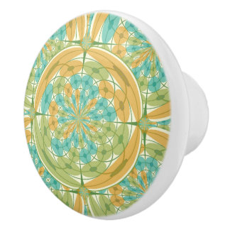 Geometric harmony ceramic knob