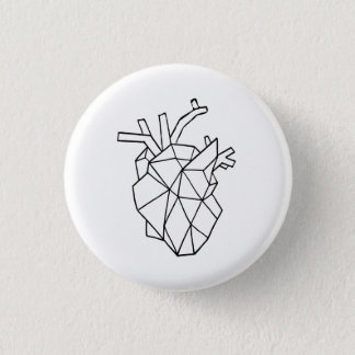 Geometric heart Button