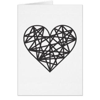 Geometric heart card