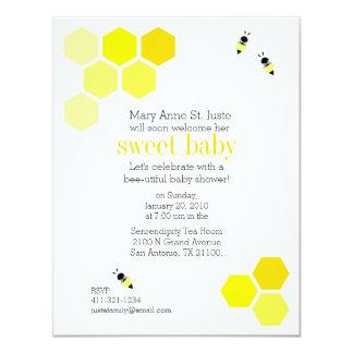 geometric honey bee BABY SHOWER invitation 2