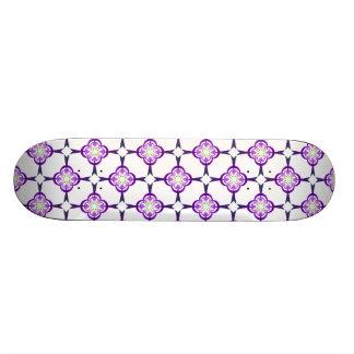Geometric in Blue and Purple Skateboard