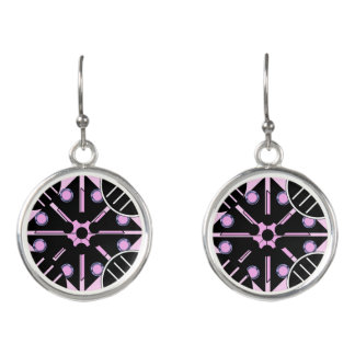Geometric in Pink Earrings