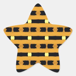 Geometric in Yellow and Black Star Sticker