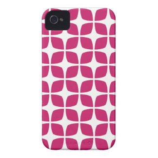 Geometric iPhone 4S Case in Fuchsia Red iPhone 4 Case
