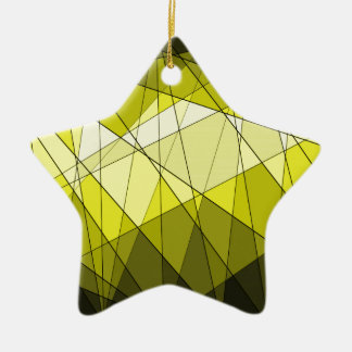 Geometric Jewel Gemstone Design Christmas Ornaments