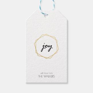 Geometric Joy Gift Tag