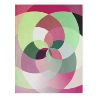 Geometric Kaleidoscope Change of Address Card Postcard