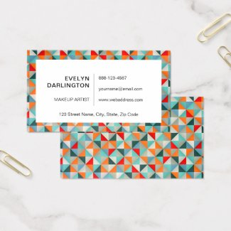 Geometric Kaleidoscope  Triangles Business Card