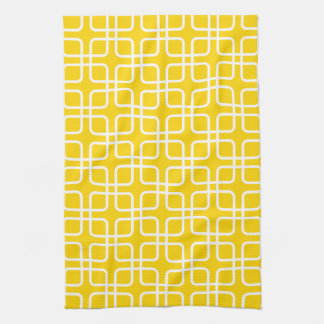 Geometric Kitchen Towel in Freesia Yellow