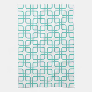 Geometric Kitchen Towel \ Turquoise
