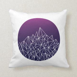 geometric landscape // blue, purple + white // throw cushions