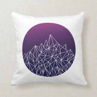 geometric landscape // blue, purple + white // throw pillow