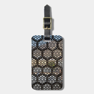 Geometric Lattice window, India Bag Tag