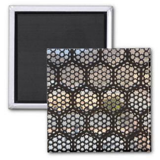 Geometric Lattice window, India Square Magnet