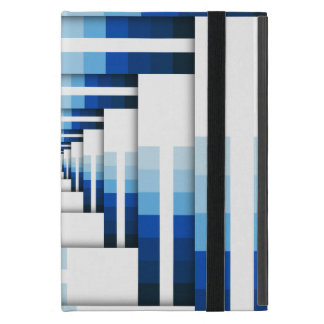 Geometric Layers of Blue iPad Mini Case