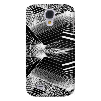 Geometric Line Art Black & White Abstract Design Galaxy S4 Case