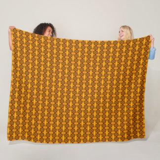 Geometric Lion Animal Print Fleece Blanket