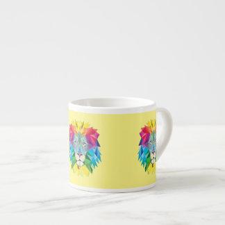 Geometric Lion Head Espresso Mug