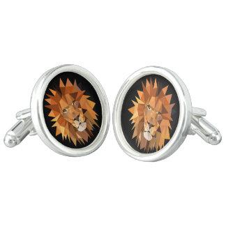 Geometric Lions Custom Cufflinks
