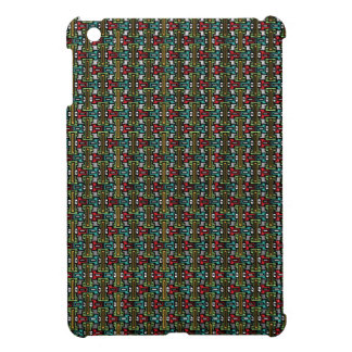 Geometric locking funky squares 003 iPad mini case