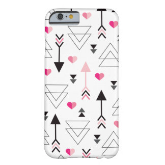 Geometric love valentine arrow cupid pattern barely there iPhone 6 case