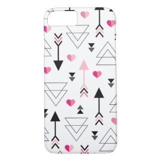 Geometric love valentine arrow cupid pattern iPhone 7 case