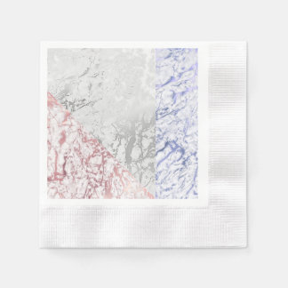 Geometric Marble Pink Rose Gold Navy Disposable Napkins