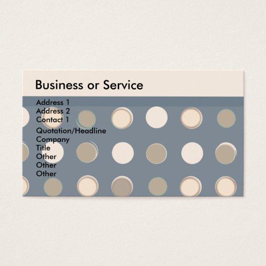 Geometric Masculine Pattern Retro Classic Cheap Business Card