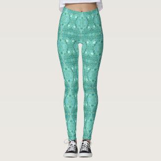 Geometric Mermaid Leggings Yoga Pants