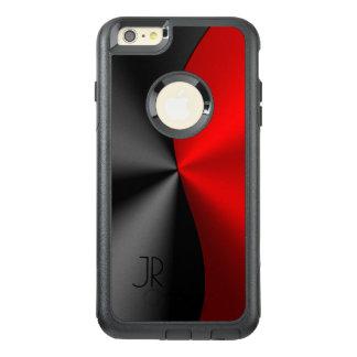Geometric Metallic Red & Black Design OtterBox iPhone 6/6s Plus Case