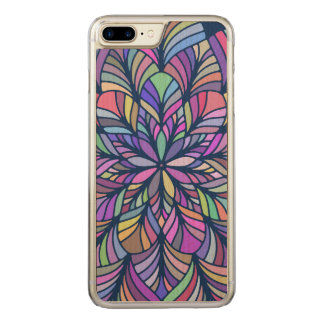 Geometric Modern Colorful Abstract Mandala Carved iPhone 8 Plus/7 Plus Case