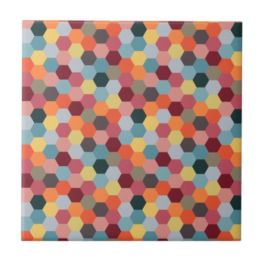 Geometric Modern Hexagon Pattern Ceramic Tile