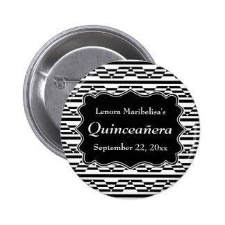 Geometric Monochrome Quinceanera Pin