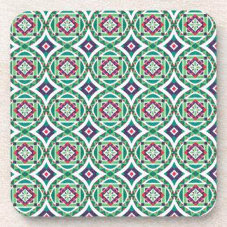 Geometric Moroccan Watercolor Seamless Pattern 4 Coaster