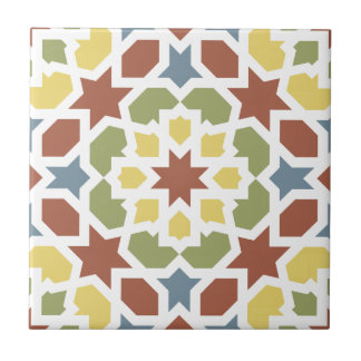 Geometric mosaic of arabesque of Morocco Small Square Tile