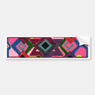 Geometric Motif Bumper Sticker